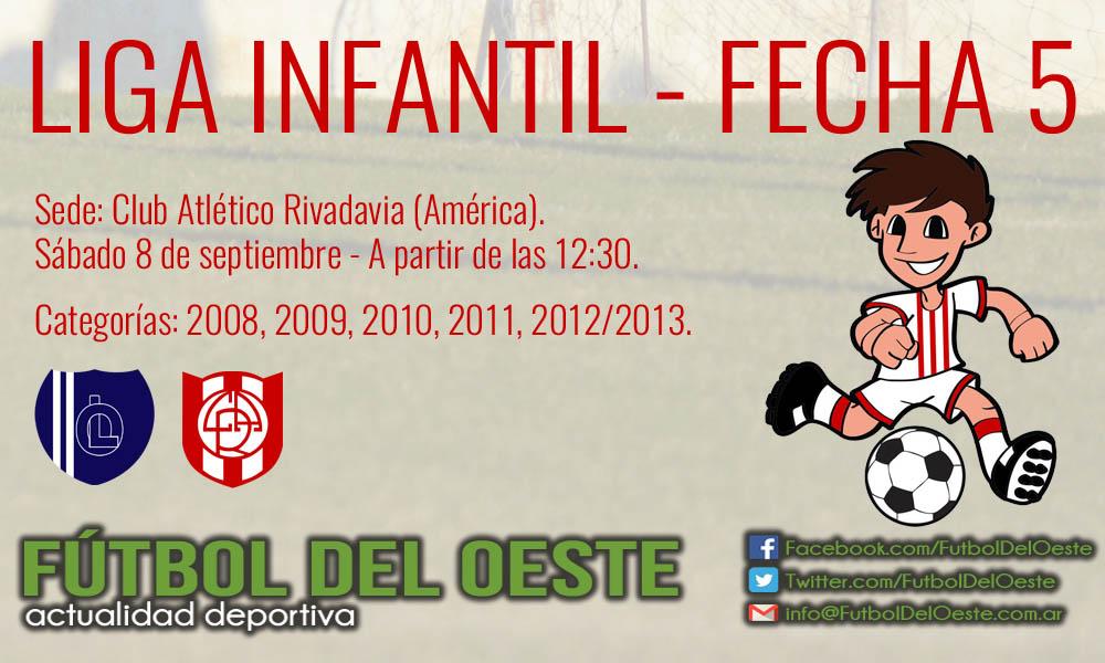 La 5ª Fecha De La Liga Infantil Se Juega En Atletico Rivadavia Futbol Del Oeste
